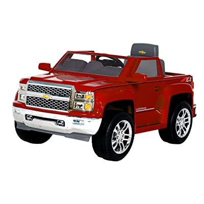 Rollplay 6V Chevy Silverado Ride-On Vehicle, Red: Toys & Games