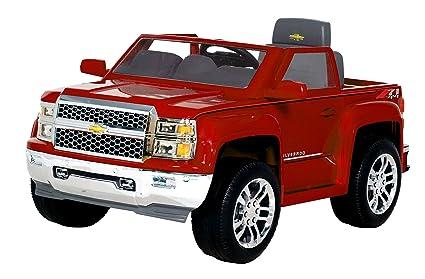 amazon com rollplay chevy silverado 6 volt ride on vehicle red rh amazon com