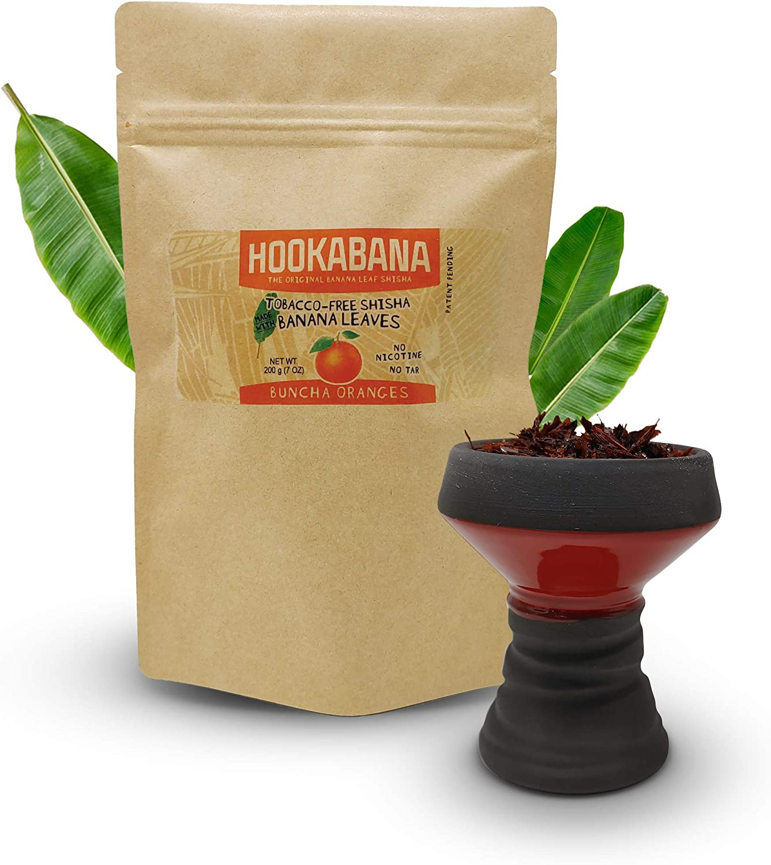 Hookabana 200 Grams Flavored Hookah Shisha Tobacco-Free and Nicotine-Free (Buncha Oranges)