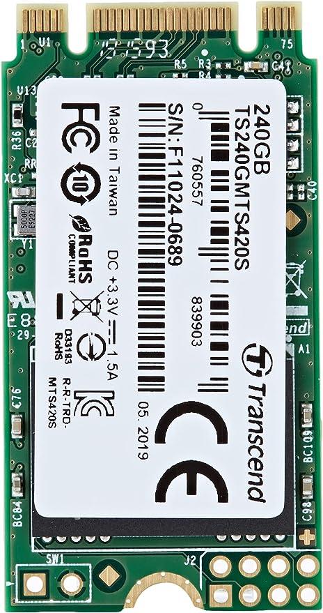 Transcend MTS420S - SSD Disco Duro Solido de 240 GB M.2 2242 SATA ...