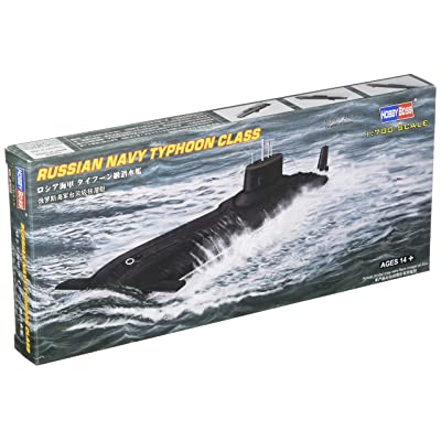 Hobby Boss Russian Typhoon Class Submarine Boat Model Building Kit: Toys & Games