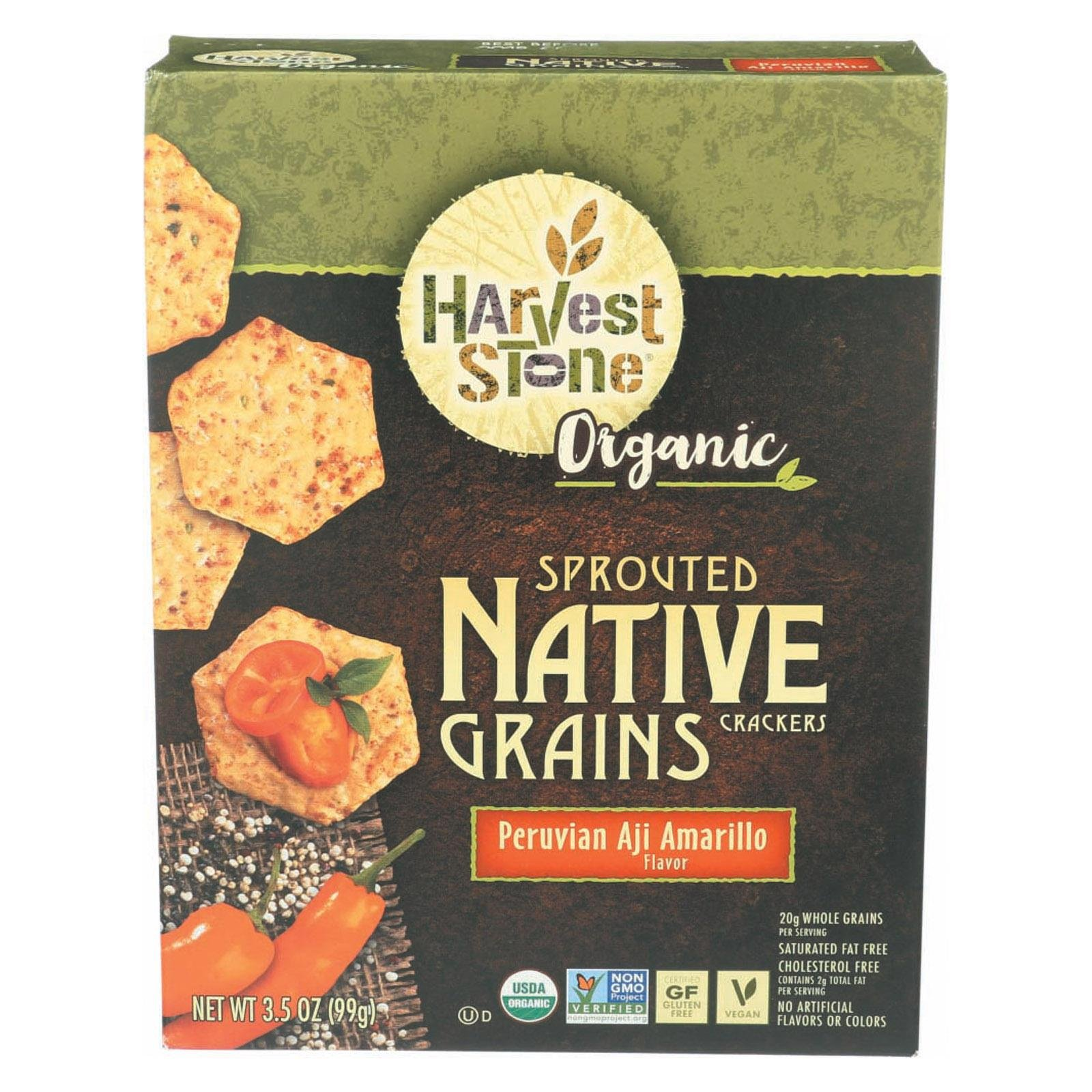 HARVEST STONE, CRACKERS, OG2, PERUVIAN AJI - Pack of 6