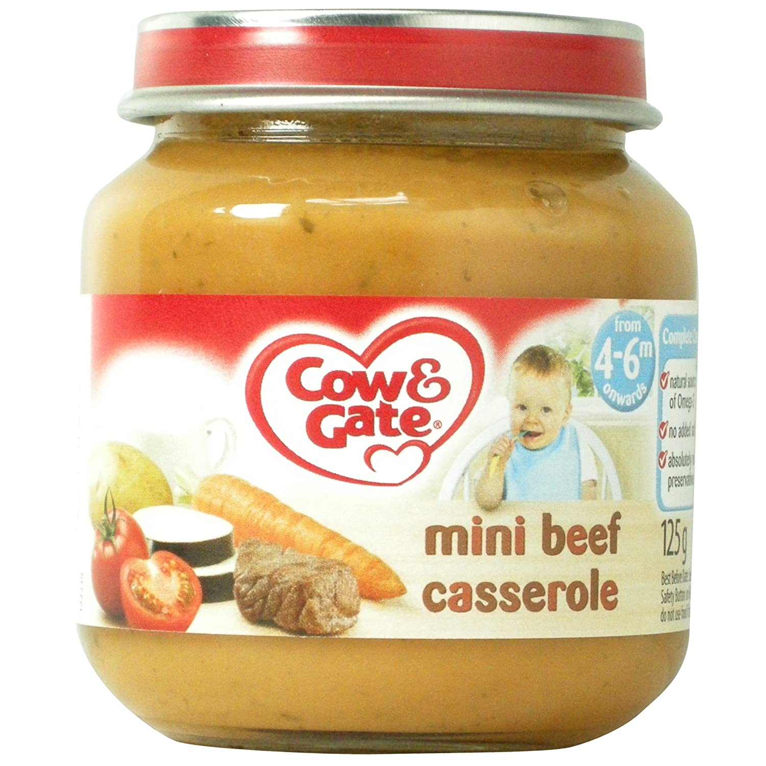 Cow & Gate 4-6 Mths+ Mini Beef Casserole 125G