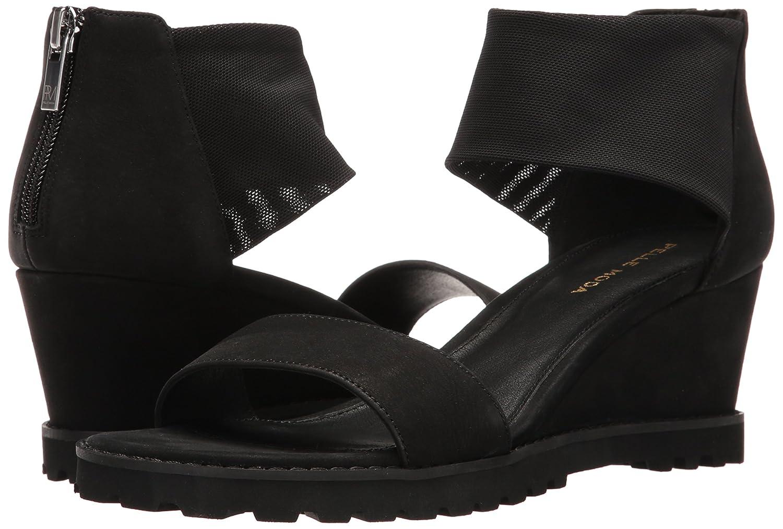 Pelle Moda B01ISAEU0O Women's Ricki-Nu Wedge Sandal B01ISAEU0O Moda 9.5 B(M) US|Black 730ebd