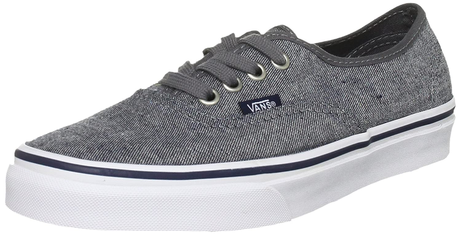 [バンズ] スニーカー Women's AUTHENTIC (Pig Suede) VN0A38EMU5O レディース B006GVPGVK Pewter/True White 8.5 M UK 8.5 M UK|Pewter/True White
