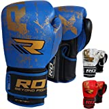 RDX Cow Hide Leather Boxing Gloves Sparring Punching Bag Mitts Training Glove Muay Thai T4