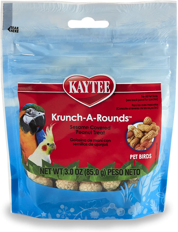 Kaytee Krunch-A-Rounds Sesame Covered Peanut Treat for Birds