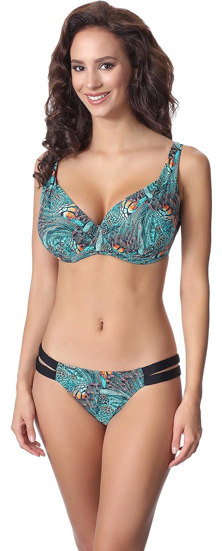 TALLA EU(70D/36)=ES(85D/38). Antie Bikini Trajes de Baño Conjunto Tops y Bragas Mujer 81L2D4N31 2017