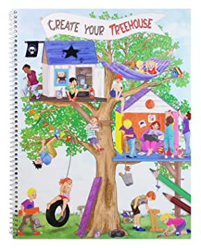 Colouring Tree House - Create Your Tree House No. 8476