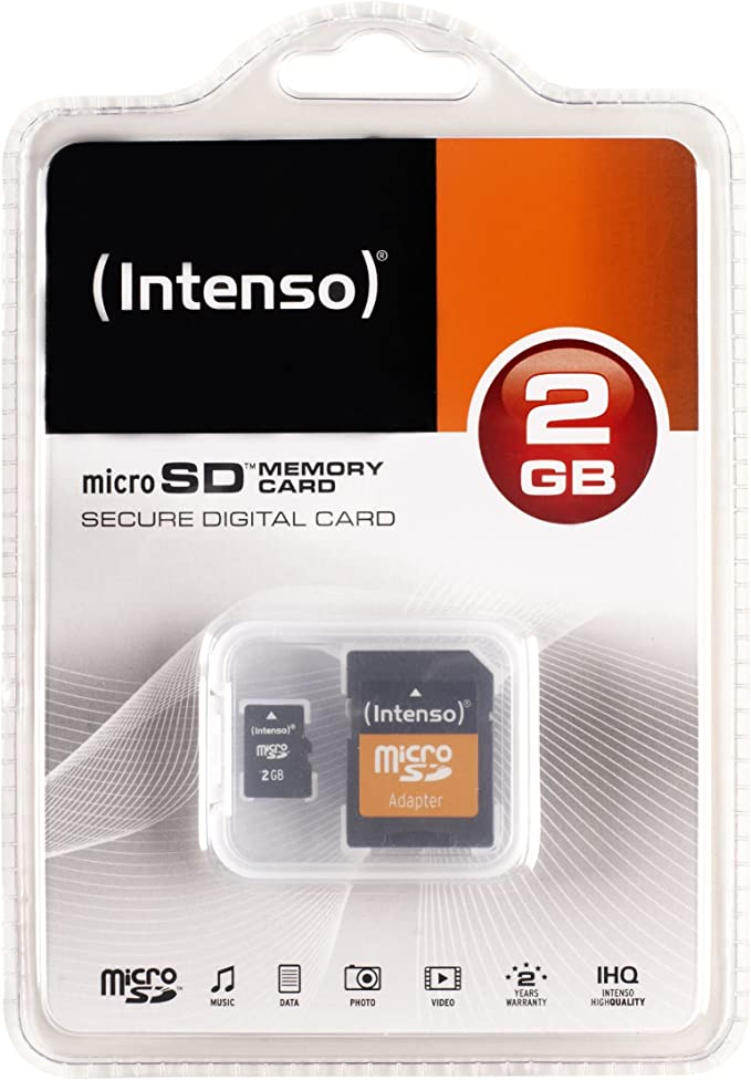 Intenso 3403440 2gb Micro Sd Card Computers Accessories