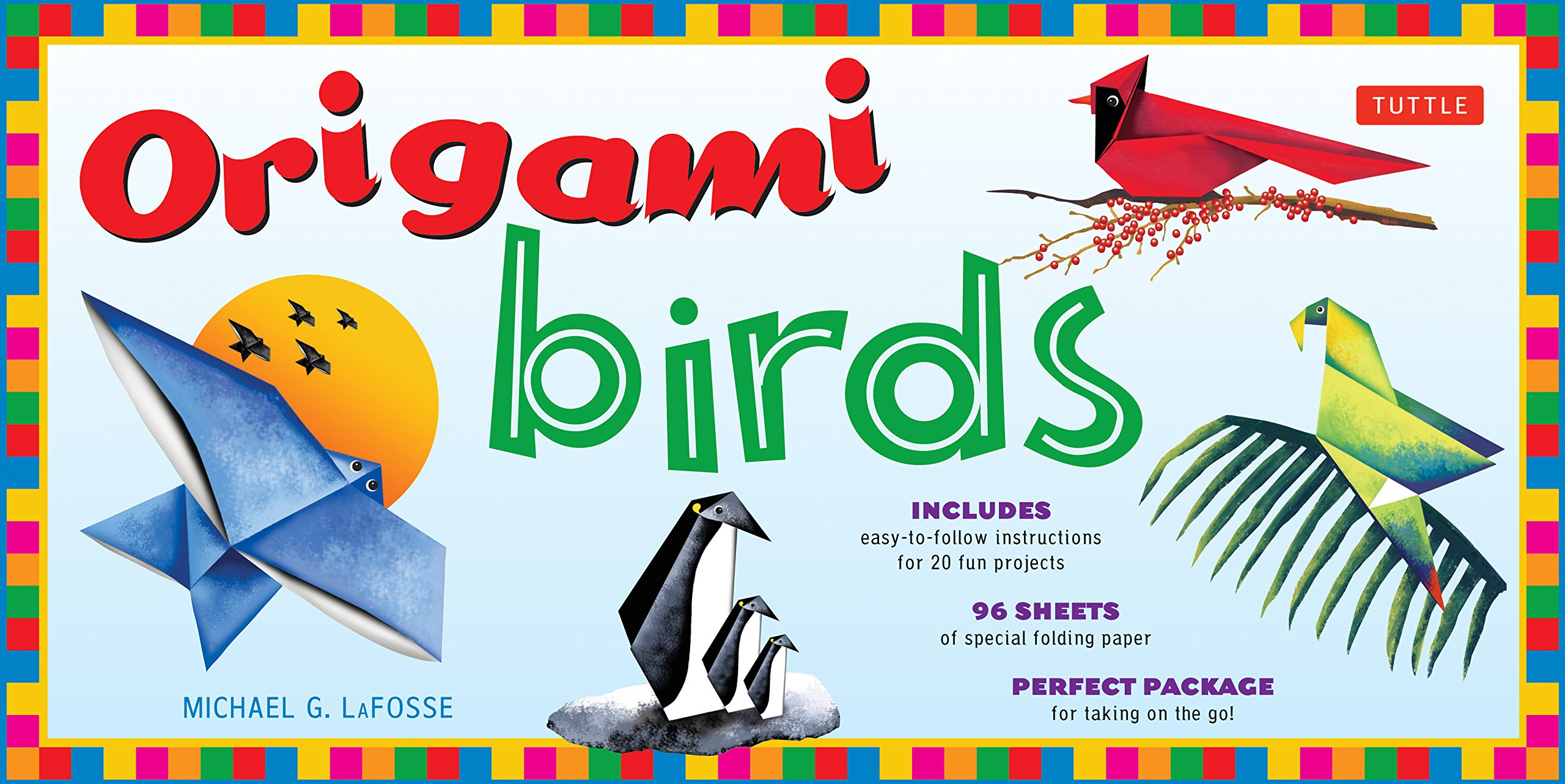 Origami Birds Kit Make Colorful With This Parrot Origamiorigami Macaw Parrotorigami Diagram Easy Includes 2 Books 20 Projects 98 High Quality