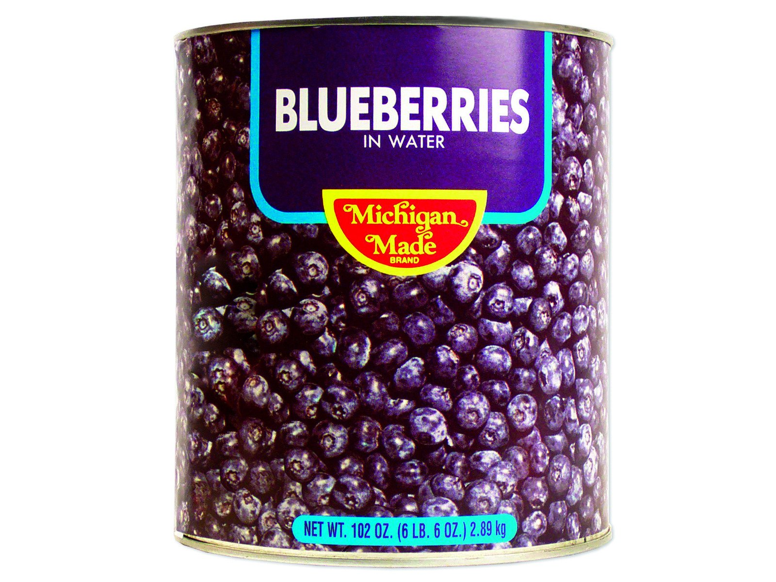 Water Pack Blueberries 6/10 6.6 lb. Cans