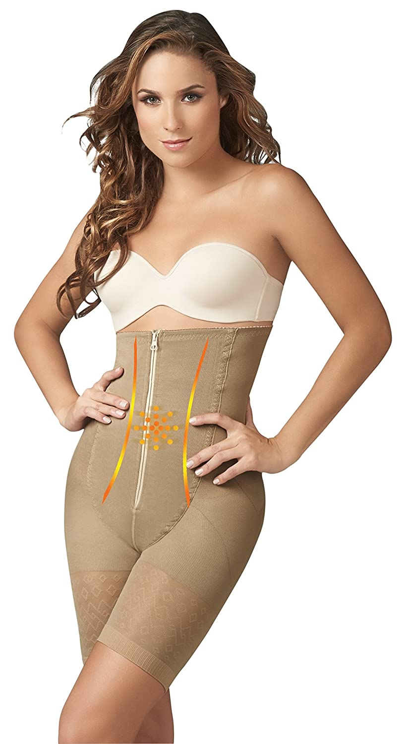 894051c31ed Amazon.com  ShapEager Braless Waist Cincher Shapes The Body Lift Up The  Buttocks Body Shaper Black  Clothing