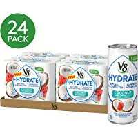4-Pack of 6 V8 +Hydrate 8 oz. Coconut Watermelon Plant-Based Hydrating Beverage Can