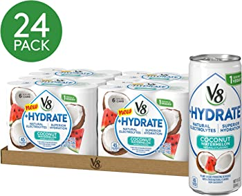 24-Pack V8 +Hydrate Plant-Based Hydrating Beverage Can