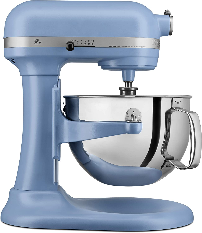 KITCHENAID KP26M1XVB Professional 600 Stand Mixers, 6 quart, Matte Velvet Blue (Renewed)