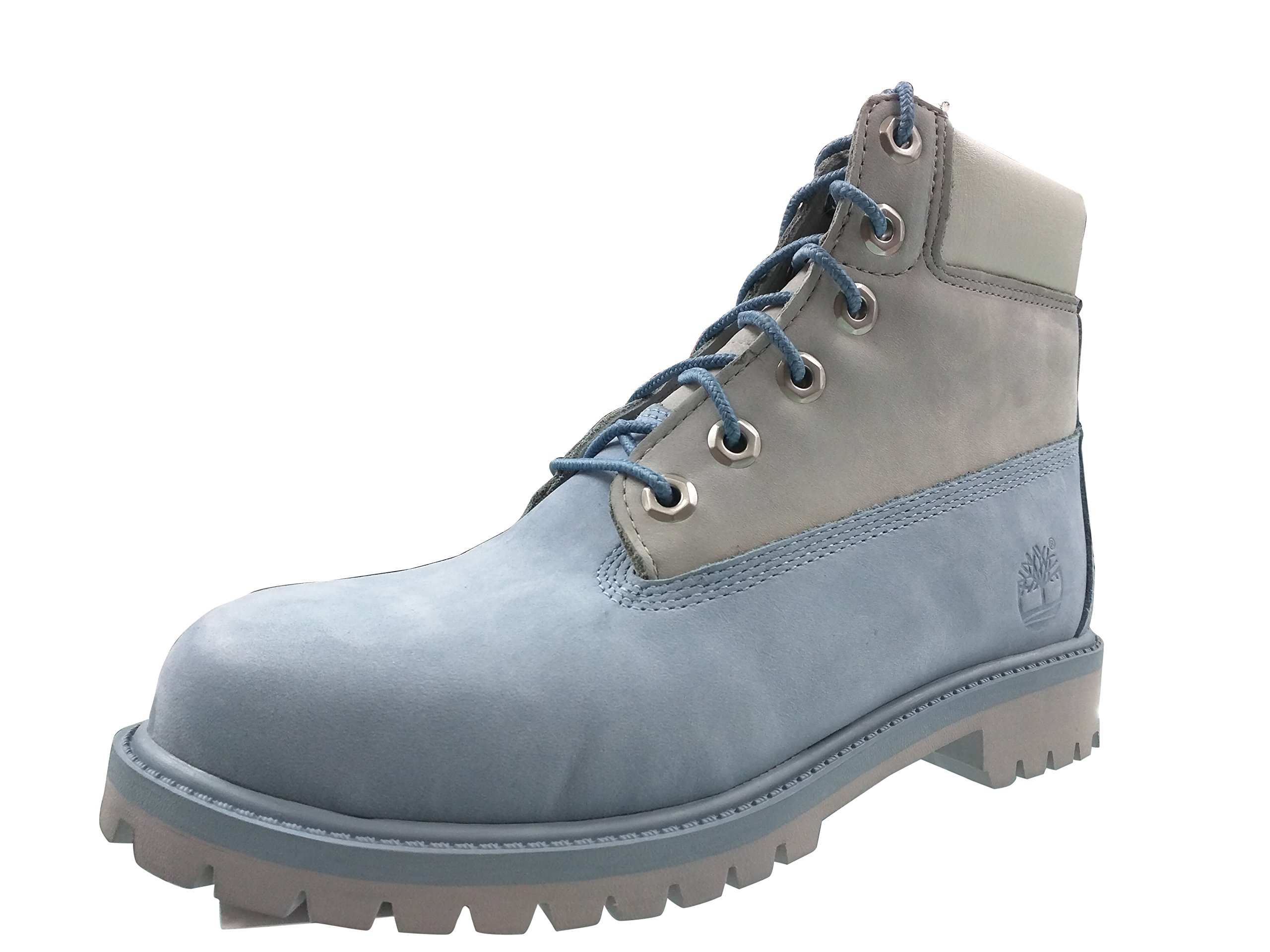 Big Kids Timberland 6 In. Classic Premium Boots (6 D(M) US, Blue/Grey)