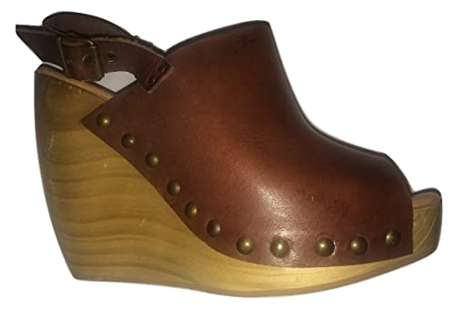 3da833f87f30 Dune Leather Peep Toe Wooden Platform Wedge  Amazon.co.uk  Shoes   Bags