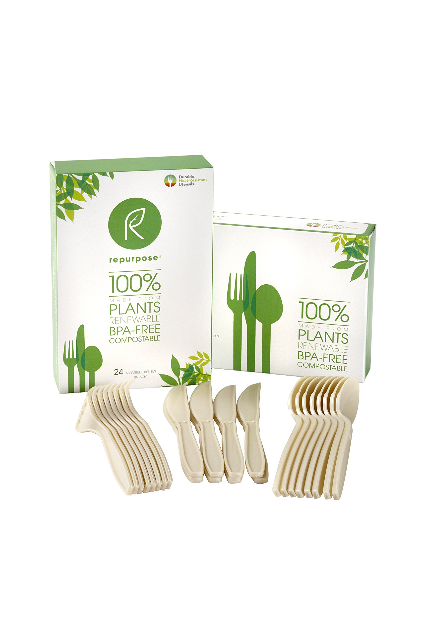 Repurpose 100% Compostable Plant-Based High Heat Utensils Combo Set (480 Count)