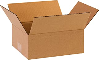 """product image for Partners Brand P862 Flat Corrugated Boxes, 8""""L x 6""""W x 2""""H, Kraft (Pack of 25)"""