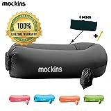 Mockins Black Inflatable Lounger Hangout Sofa Bed