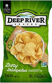 product image for Deep River Snacks Zesty Jalapeno Kettle Cooked Potato Chips, 5-Ounce (Pack of 12)