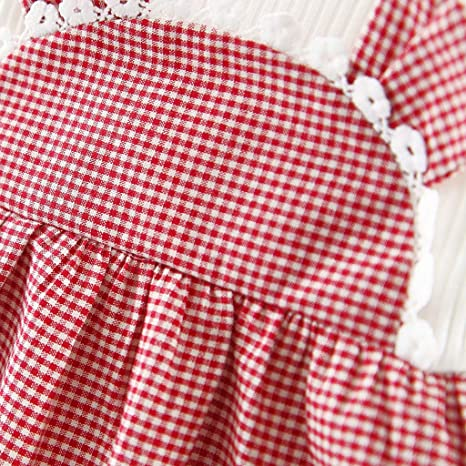 Amazon.com: 2019 Spring Outfit Dress, Coper Toddler Baby Girls Long Sleeve Ears Plaid Princess Dress: Clothing