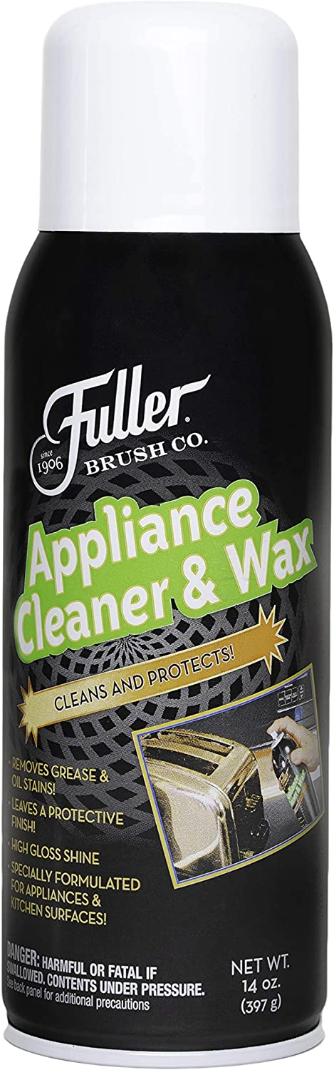 Fuller Brush Appliance Cleaner & Wax - Multi Surface Cleaning & Polishing Spray - Grease & Stain Remover For Stainless Steel, Metal & Glass Kitchen & Oral Appliances - For Home & Commercial Use