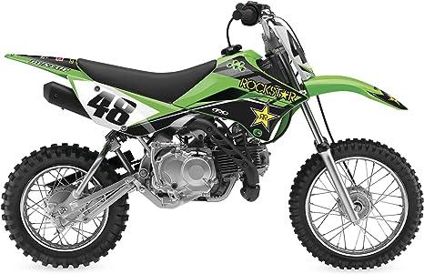 Flaming Gearhead Green Graphics Kit Senge Graphics kit compatible with Kawasaki 2010-2019 KLX110