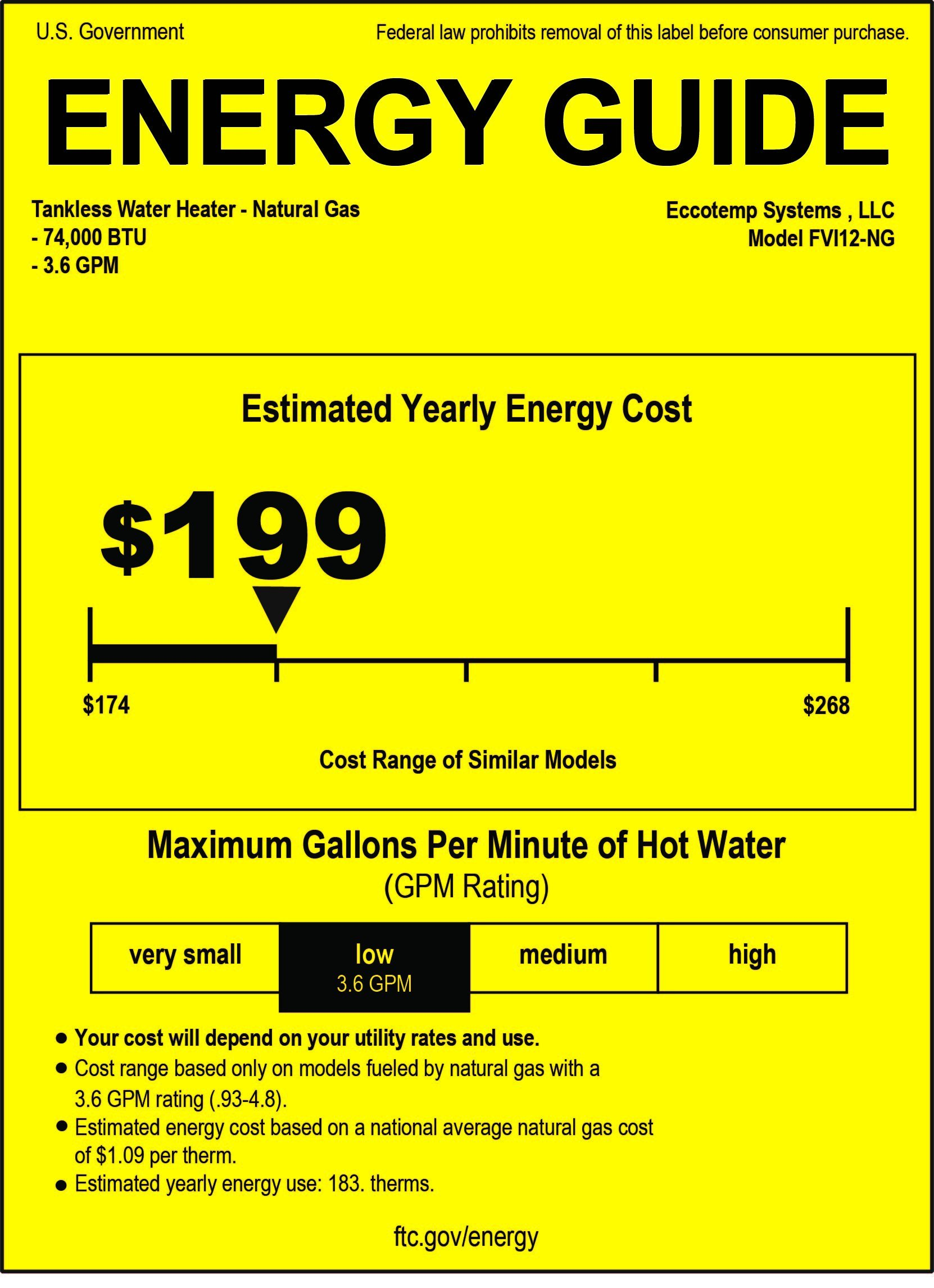 Eccotemp fvi12-NG FVI-12 Natural Gas, 3.5 GPM, High Capacity Tankless Water Heater, White by Eccotemp (Image #7)