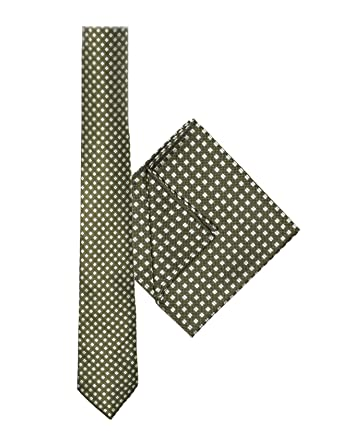c489cebb8e202 Paisley of London, Boys tie & hanky set, Boys olive green hashtag tie & pocket  square: Amazon.co.uk: Clothing