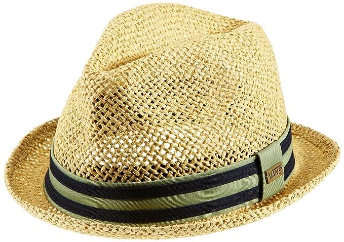 f16b475318d Vans Off The Wall Mens Alamitos Straw Fedora Hat Cap - Safari (S M ...