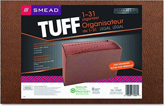 Letter NEW Smead TUFF Expanding File Redrope FREE SHIPPING Daily 31-Pockets
