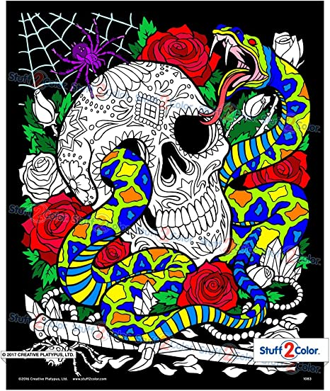 Amazon.com: Snake Eyes - Fuzzy Coloring Poster For Kids And Adults (Arrives  Uncolored): Posters & Prints