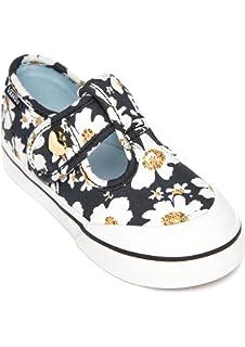 Vans Leena Daisy Black Blue Toddler Girls Shoes d4a7edb05