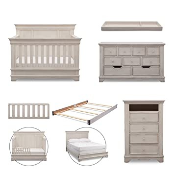 simmons kids tivoli 6piece nursery furniture set convertible crib dresser chest