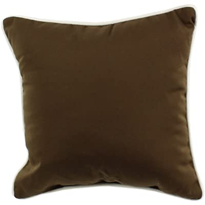 "College Covers Brown, 16"" x 16"" Indoor/Outdoor Decorative Pillow: Home & Kitchen"