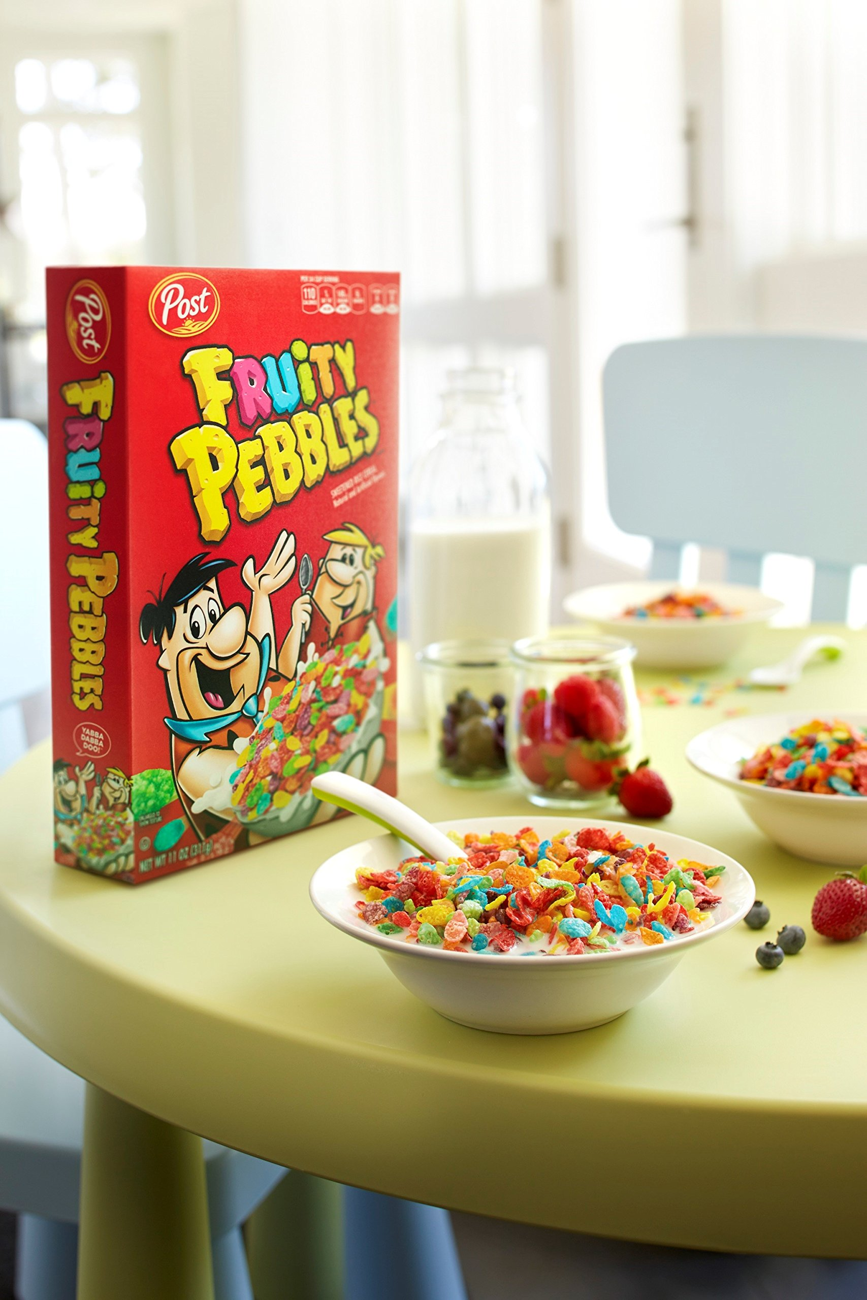 Post Fruity Pebbles Gluten Free Cereal, 11 Ounce (Pack of 12) by Post