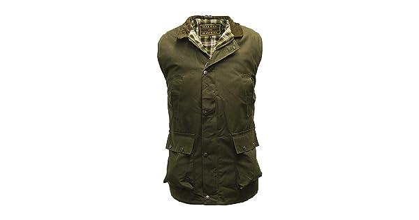 23b3f167 comWalker and Hawkes Men's Wax Bodywarmer Waistcoat Countrywear Gilet Small  Olive | Amazon