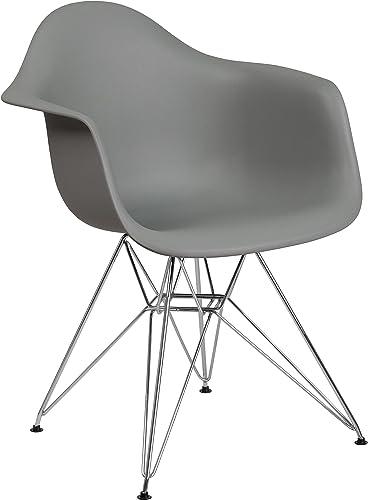 Flash Furniture Alonza Series Moss Gray Plastic Chair