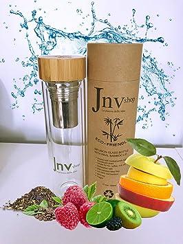 Botella de infusor de té Jnvshop y vaso para hacer jugo ...