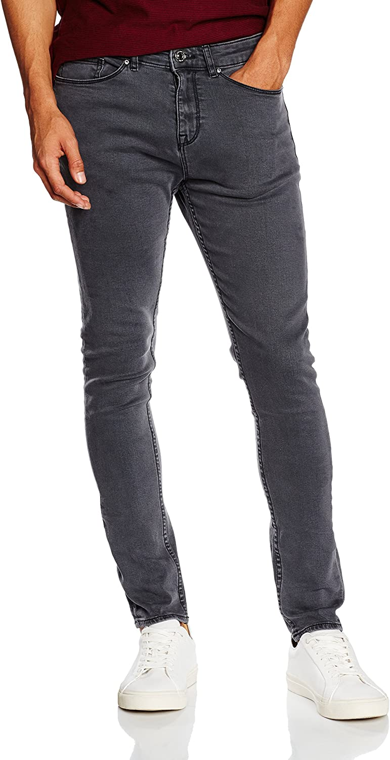 New Look Men's Gaston, Vaquero Skinny para Hombre, Gris (mid Grey)