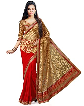 a60f0fee06c0ba Image Unavailable. Image not available for. Colour: Janasya Brasso Saree ...