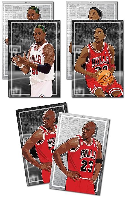 7140722fc24d0c Amazon.com  3 Posters of NBA Chicago Bulls - Michael Jordan
