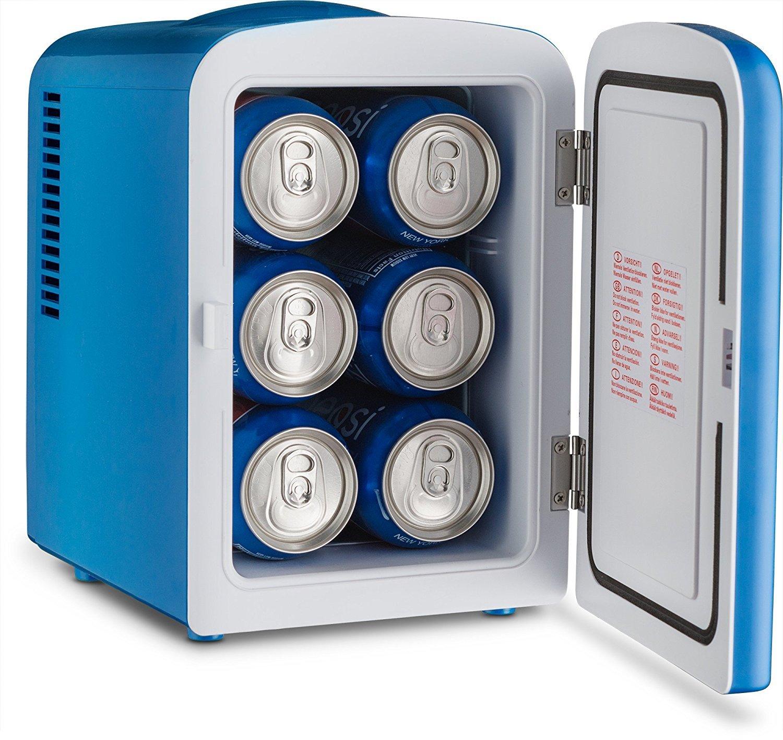 Pepsi Gmf660 Portable Pepsi 6 Can Mini Fridge Cooler Warmer Home Office Car Or Boat Ac Dc Blue 110 120v Amazon Ca Home Kitchen