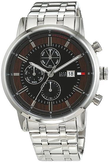 Reloj para hombre Tommy Hilfiger 1791248, mecanismo de cuarzo, diseño con varias esferas, correa de acero inoxidable.: Amazon.es: Relojes