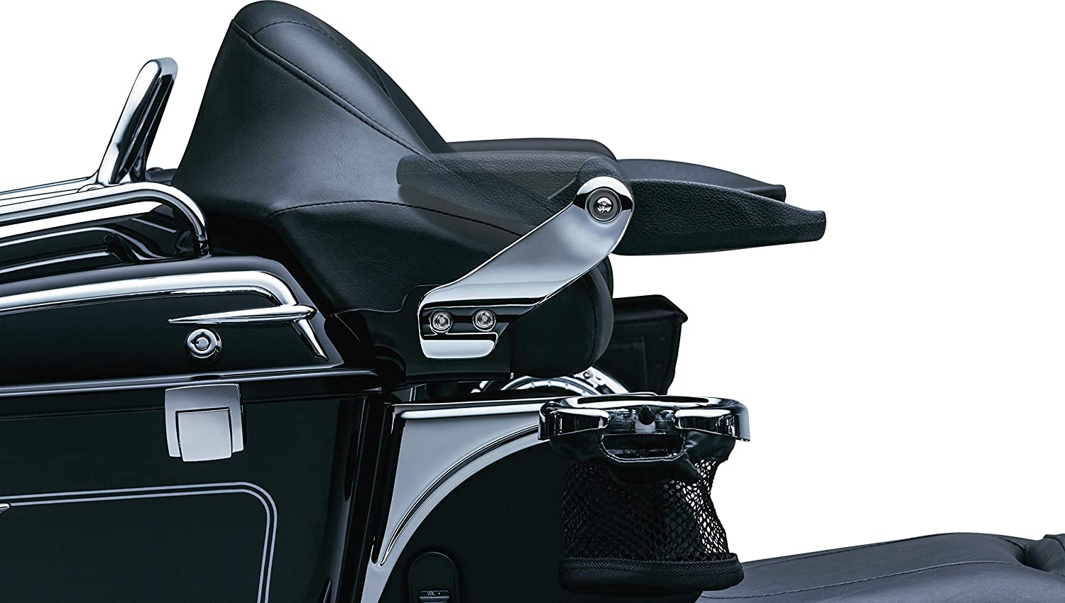 Chrome Kuryakyn 8958 Motorcycle Accessory Stealth Foldable Passenger Armrests for 1997-2013 Harley-Davidson Motorcycles