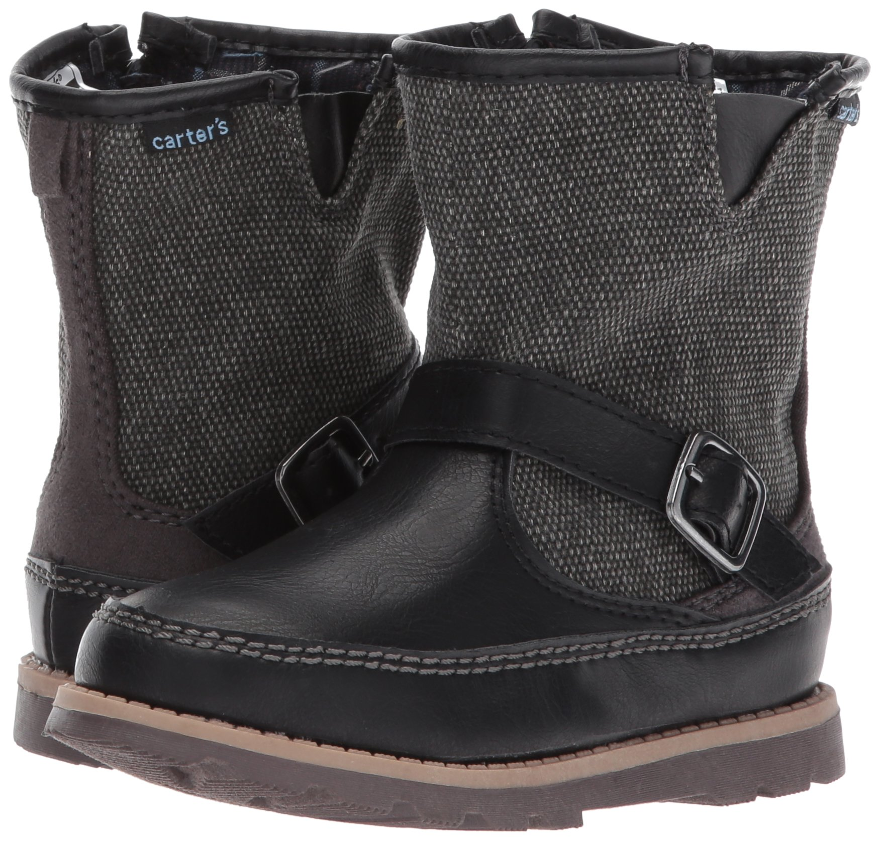Carter's Boys' Galaway Fashion Boot, Black/Grey, 11 M US Little Kid by Carter's (Image #6)