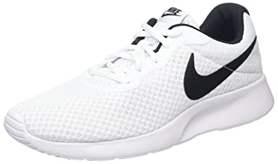 Nike Womens Tanjun Gymnastics Shoes, (White/Black 100),