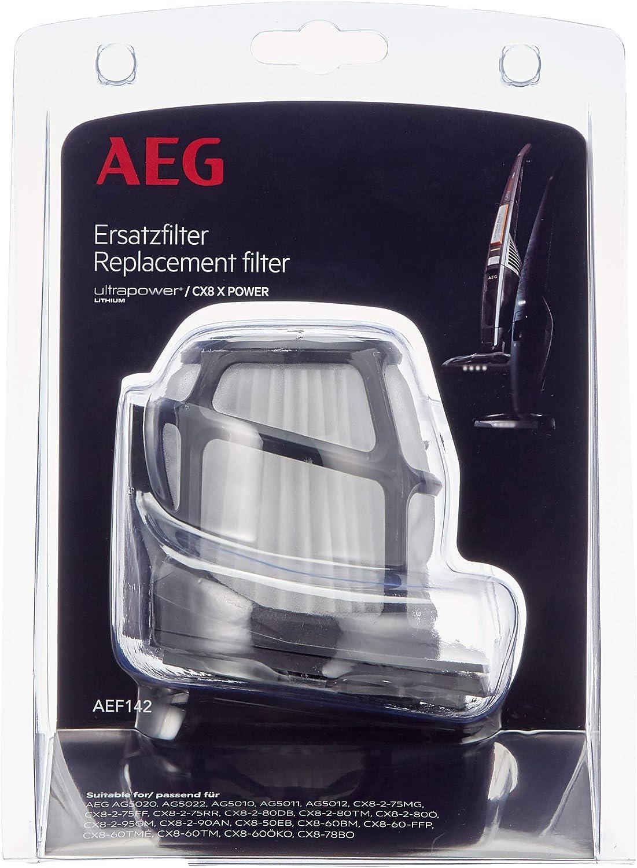 AEG AEF142 Filtro para aspiradoras Escoba CX8, Negro, Blanco ...